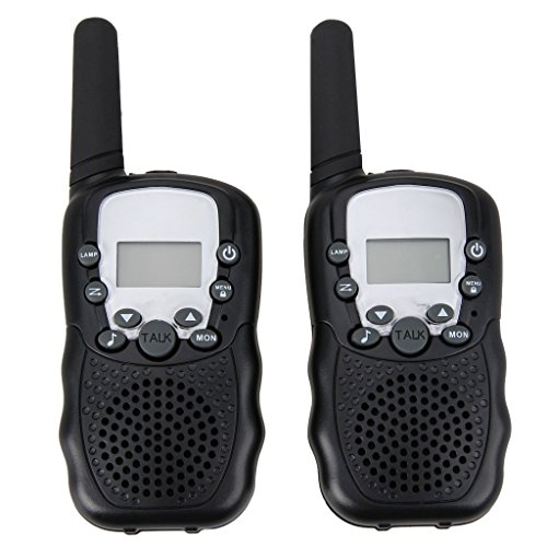 Set of 2 Piece 22 Channel Twin Walkie-Talkie 2-Way Radio 3 Km Range - Children's Two Way Radios(Black)