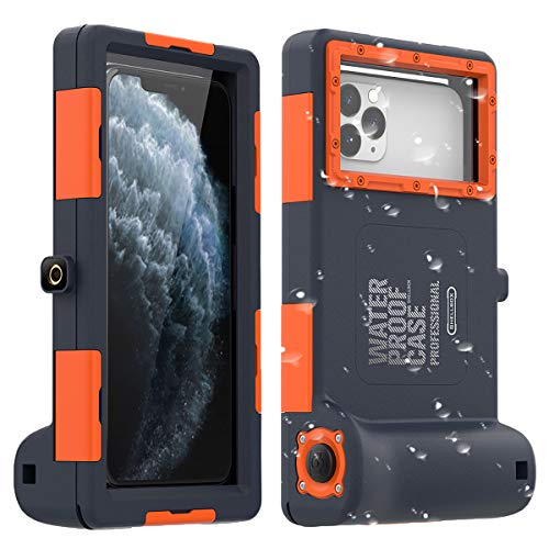 AICase Universal Waterproof Underwater Photography Housings for iPhone 11/11 Pro/11 Pro Max/XR/7/7 Plus/8/8Plus/6/6s/6s Plus[50ft/15m], Diving Case for Galaxy S10/S10 Plus/Note 10 Plus/S9 Plus Etc