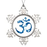 Xixitly Tree Branch Decoration om aum yoga Meditation Snowflake Ornaments Christmas Tree