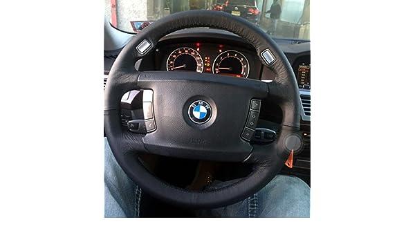 Amazon.com: RedlineGoods BMW 7-series E65 2001-08 cubierta del volante 4 de: Automotive