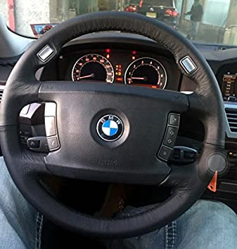 RedlineGoods BMW 7-series E65 2001-08 cubierta del volante 4: Amazon.es: Coche y moto