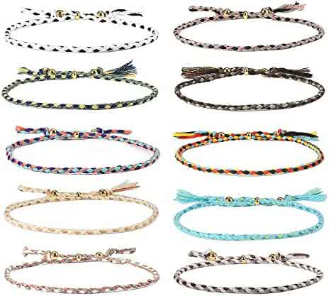 Jeka Handmade Wrap Friendship Braided Bracelet Sea Turtle Anklets for Women Girls Colorful Wrist Cord Adjustable Birthday Gifts-Party Favors