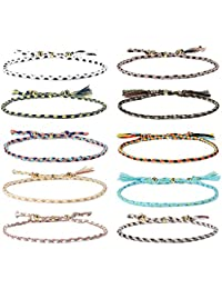 Handmade Wrap Friendship Braided Bracelet Sea Turtle Anklets for Women Girls Colorful Wrist Cord Adjustable Birthday Gifts-Party Favors