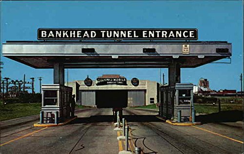 Eastern Entrance to Bankhead Tunnel Mobile, Alabama Original Vintage Postcard (Mobile Tunnel Bankhead)