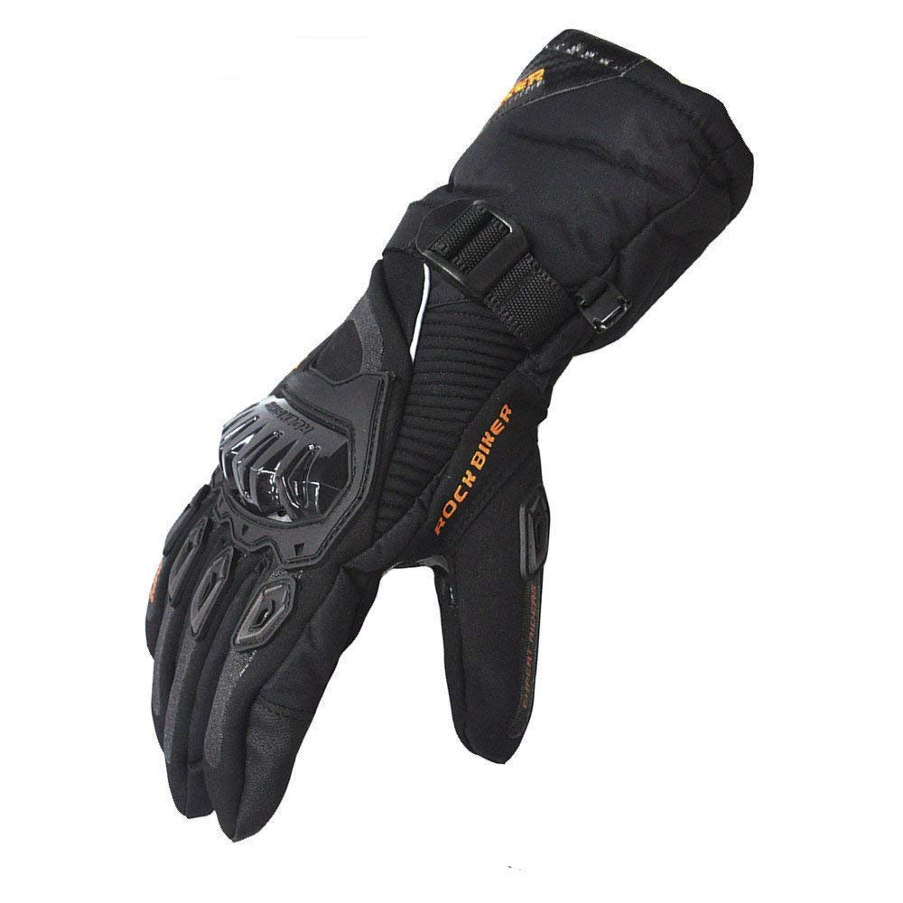 KEMIMOTO Waterproof Motorbike Gloves with Hard Knuckle Protection