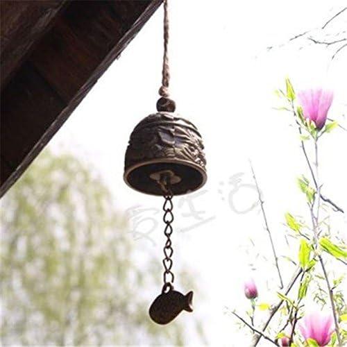 iFCOW campanella a vento con scritta Best Wishes Lucky in metallo