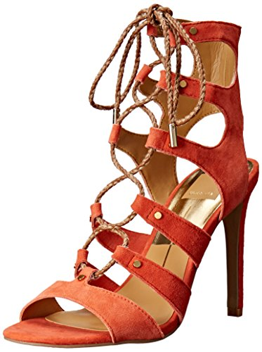 (Dolce Vita Women's Howie Gladiator Sandal, Red/Orange, 7.5 M)