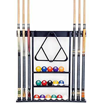 Amazon Com Cue Rack Only 6 Pool Cue Billiard Stick Wall Rack