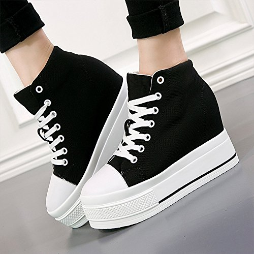 Women Of Thick KPHY eight Classic Sponge Black Shoes Shoes Version Thirty The Women Students Canvas Cake Increased Korean In New qtPHx8Bnt