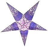 Quasimoon PaperLanternStore.com 24'' Purple Rain Paper Star Lantern, Hanging Decoration