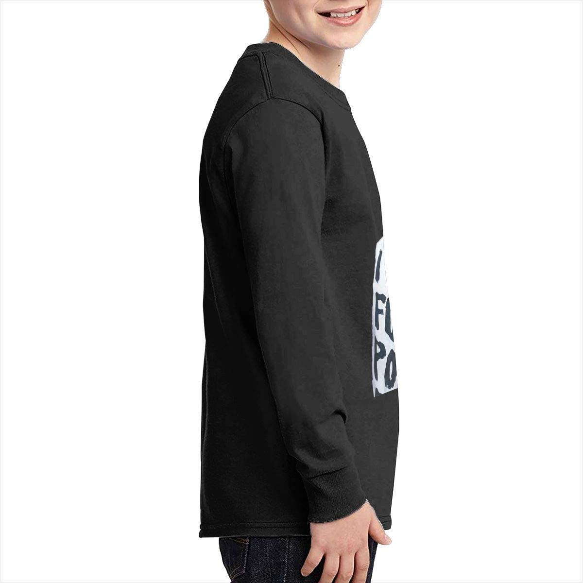 Kilsd Boys /& Girls Junior Particular Cardi B Long Sleeve T Shirt Black
