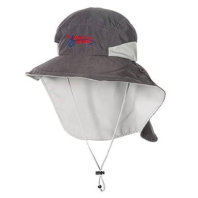9a9ce91e56aad American Outdoorsman Mens Microfiber Fishing Sun Hat Wide Brim Flap Cap  (Charcoal) at Amazon Men s Clothing store
