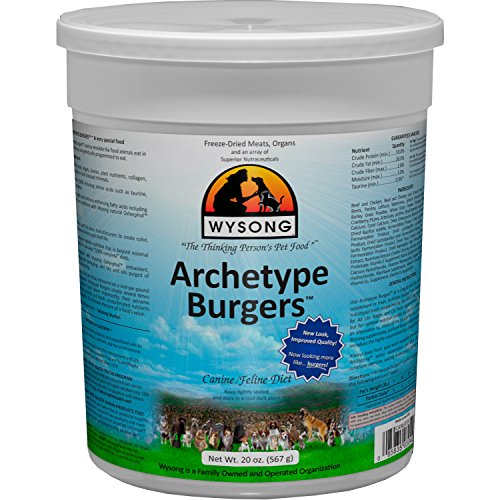 WYSONG PET NUTRITIONAL PRODUCTS Wysong Archetype Burgers Canine/Feline Diet Dog/Cat Food- 20 Ounce Canister