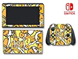 Gudetama Cute Lazy Depressed Egg Hello Kitty Video Game Vinyl Decal Skin Sticker Cover for Nintendo Switch Console System