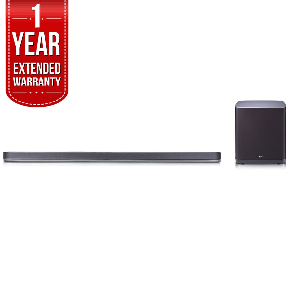 LG SJ9 Sound Bar w. 5.1.2ch Hi-Resolution Audio w/ Dolby Atmos, Wifi, Bluetooth with 1 Year Extended Warranty by Beach Camera