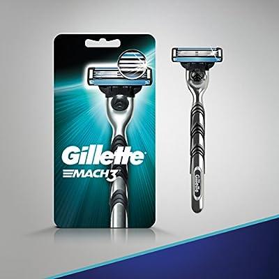 Gillette Mach3 Men's Razor, Handle & 1 Blade Refill