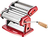 Imperia: ''La Rossa'' Chromed Steel Pasta Machine, RED [ Italian Import ]
