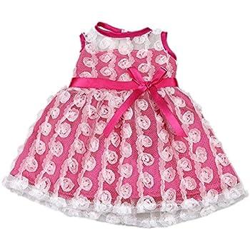 amazon com aoful bitty baby doll clothes dress pink pretty summer rh amazon com doll clothes patterns monster high doll clothes patterns free 12 inch