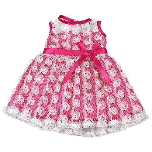 Bitty Baby Doll Clothes Dress, AOFUL Pink Pretty Summer Dress Fits Outfit 15