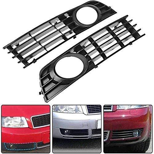 Simply Silver - Bumper Lower Fog - for 02-05 Audi A4 B6 Sedan Front Bumper Lower Fog Light Grille Insert Pair 2xA1L