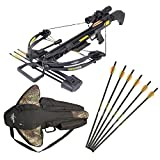 Crossbow Gun with Scope - SAS Troy 370 Compound Crossbow 4x32 Scope Package with Free Crossbow Bag and Extra 6 x Carbon Bolts
