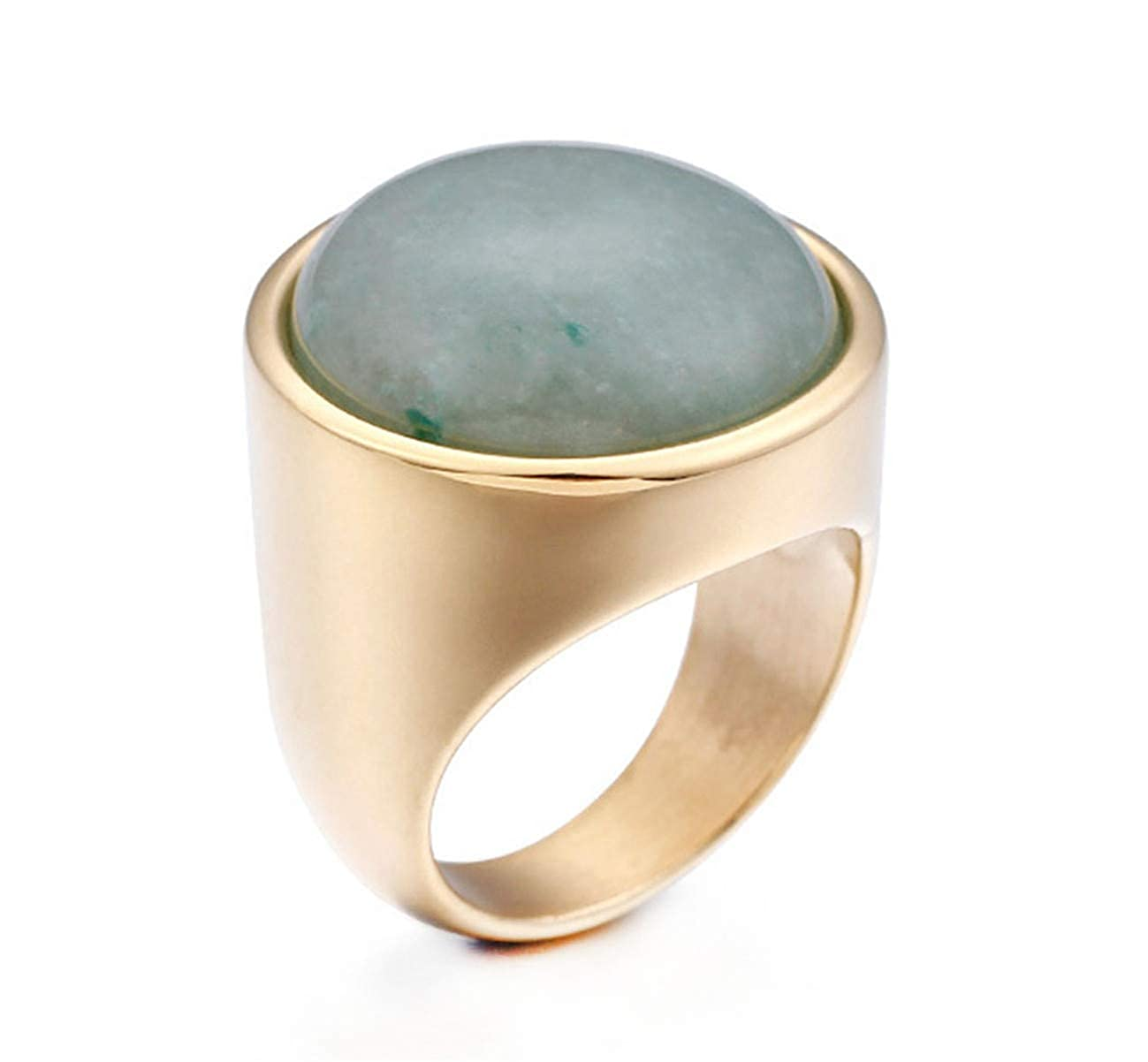 Womans Gold Plated Opal Stainless Steel Rings Ring