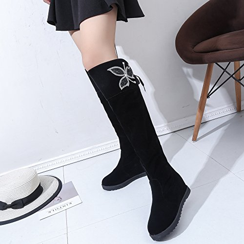 COOLCEPT Women Long Boots Pull On Black-2 iuouMTg