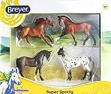 Best Breyer Horse Toys - Breyer Stablemates Super Sporty Four Horse Set Review