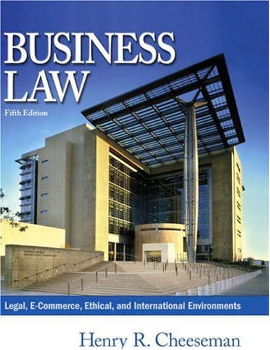 Business Law Cheeseman Pdf