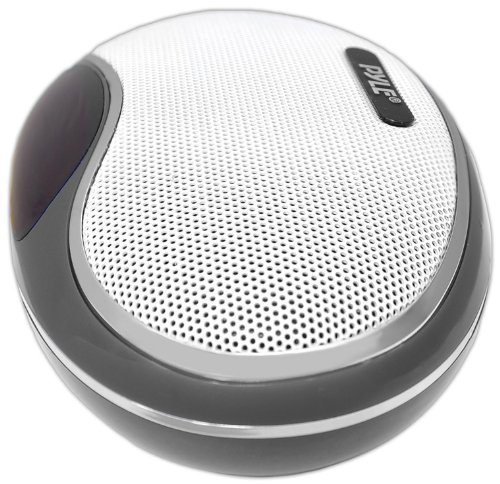 Pyle Home PSPFM1B Portable MP3 Speaker with Rechargeable Battery, LED Display, MP3/Micro SD/USB, FM, Aux Input (Black)