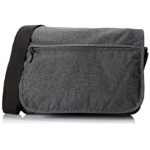 Everest Casual Laptop Messenger Briefcase, Charcoal, One Size