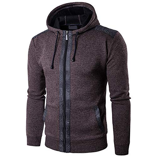 Zip Hoodies for Men, Corriee Mens Autumn Winter Casual Coat Hoodie Fashion Patchwork Long Sleeve Hooded Outwear Tops by Corriee Men Hoodies