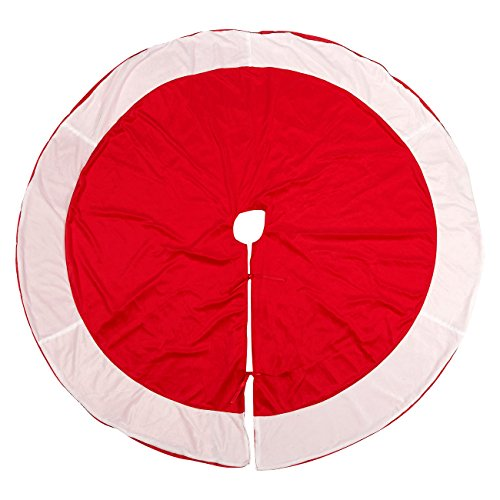 Juvale 60-Inch Christmas Tree Skirt - Circular Xmas Tree Decoration, Velvet Christmas Tree D?cor, Red (Christmas Skirt Inch Tree 60)
