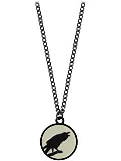 Amazon bushido pendant by alchemy gothic jewelry caw at the moon pendant raven necklace by alchemy gothic aloadofball