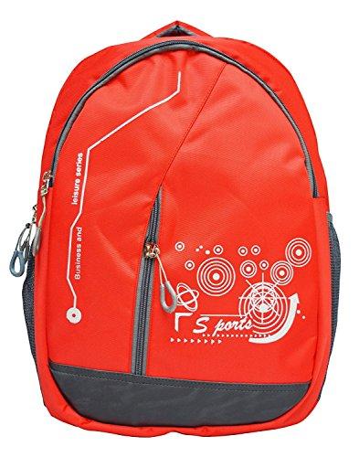 Shaina Bags Nylon 30 Ltr Red School Backpack