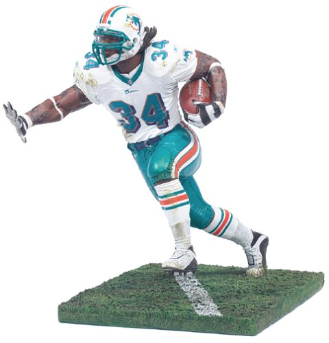 (McFarlane NFL Series 4 Ricky Williams in Miami Dolphins White Jersey Rooke Figure)