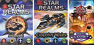 Star Realms Bundle of Base Game, Colony Wars Deck, and Cosmic Gambit Set