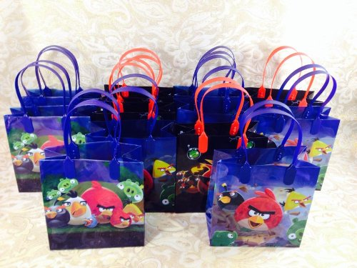 (12PC ANGRY BIRDS GOODIE BAGS PARTY FAVOR GIFT BAGS)