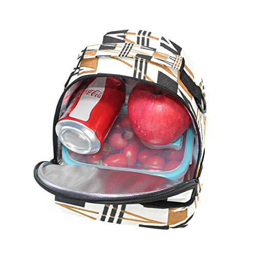 Sac géométrique Cooler Folpply bandoulière Boîte avec Tote isotherme Pincnic à l'école pour le Imprimé lunch réglable à EqY4g
