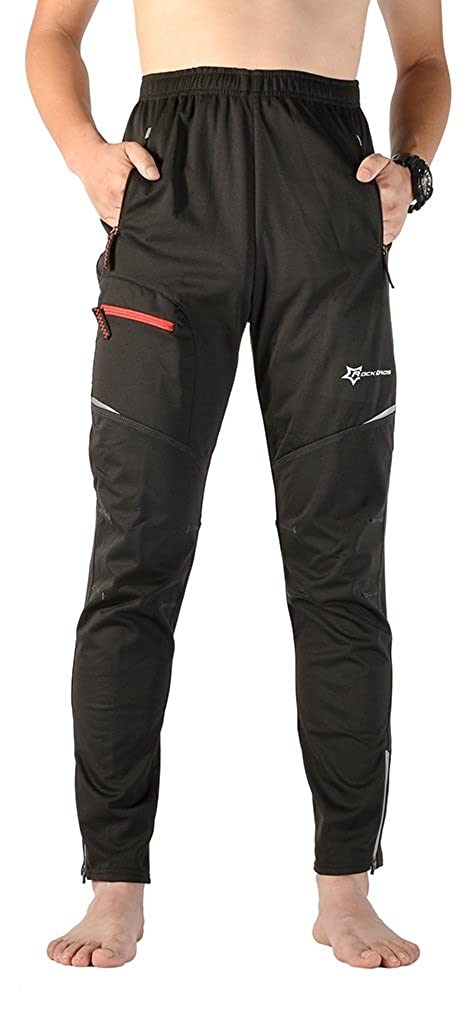 ROCKBROS Men's Cycling Wind Pants Bike Tights Thermal for Autumn Winter