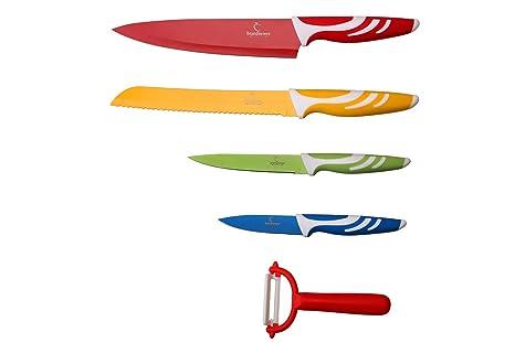 Amazon.com: Brandnewer - Juego de 5 cuchillos de cocina de ...