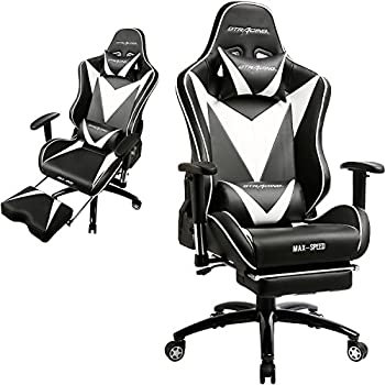 GTracing Ergonomic Gaming Chair High Back Swivel Computer Office Adjusting Headrest And Lumbar Support Recliner