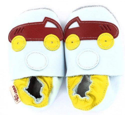 Cuquito suave Zapatos de gateo Zapatos primeros pasos zapatos de bebé Zapatillas de Cuero cuero Coche
