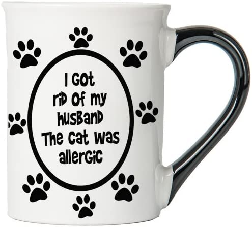 I Got Rid of My Husband, The Cat Was Allergic Mug, Cat Mug, Gifts for Cat Lovers, Pet Coffee Cup, Ceramic Mug, Pet Gifts By Tumbleweed