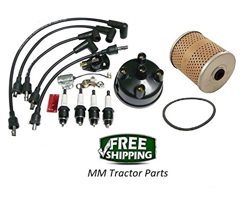 (Ignition Tune up Kit & Oil Filter - Ford 8N Tractor with Side Mount Distributor)