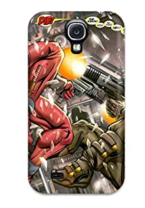 Awesome XidGhsD12143KpWzu Aarooyner Defender Tpu Hard Case Cover For Galaxy S4- Cable And Deadpool