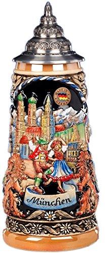 Beer Steins By King - Deutschland Munich (Munchen) German beer mug 0.5l Limited Edition