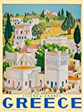 Greece Greek Grece Island of Andros Europe European Vintage Travel Advertisement Art Poster. Poster measures 10 x 13.5 inches