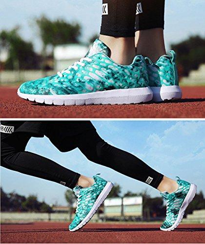 Wasser Basse Outdoor Sportive Scarpe Unisex Donna Ginnastica Sneakers Tennis Adulto NEWZCERS da Blau Fitness Uomo Running q60XHww