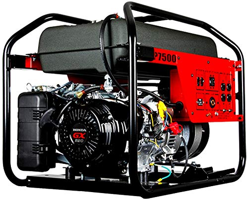 Winco Generators 29007-000 Model DP7500 DYNA Professional Portable Generator, 7500W Starting, 6720W Running, 50/28A Running, Build with GX390 Engine, 3600 RPM Speed, 2 HP, 120/240V Single Phase
